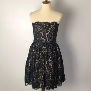 Robert Rodriguez Black Lace Dress Size 8
